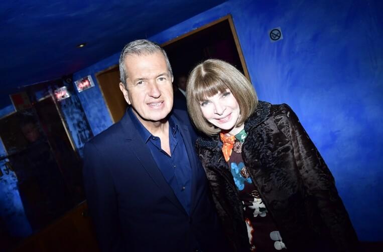 Mario Testino y Anna Wintour. Fotografía: Getty