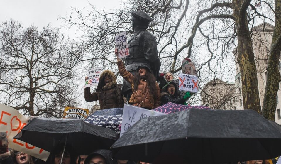Women's March en Londres. Fotografía: Theo McInnes