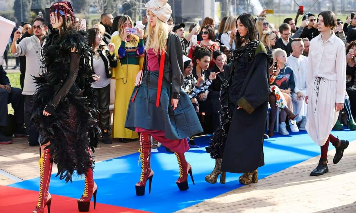 Andreas Kronthaler x Vivienne Westwood Aw 2018 / Paris Fashion Week. Fotografía: Dominique Maitre