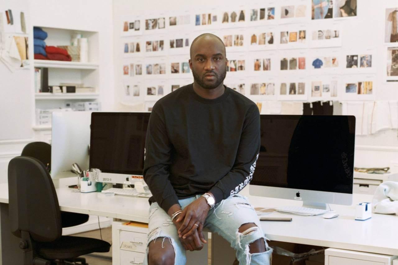 Virgil Abloh en el estudio de Off-White. Fotografía: WSJ