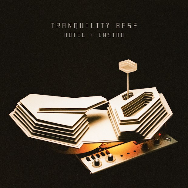 "Portada del disco ""Tranquility Base Hotel & Casino"" de Arctic Monkeys."