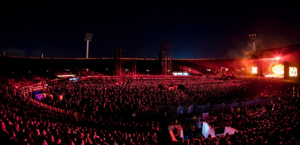 Radiohead en Chile. Fotografía: Javier Valenzuela/DG Medios.