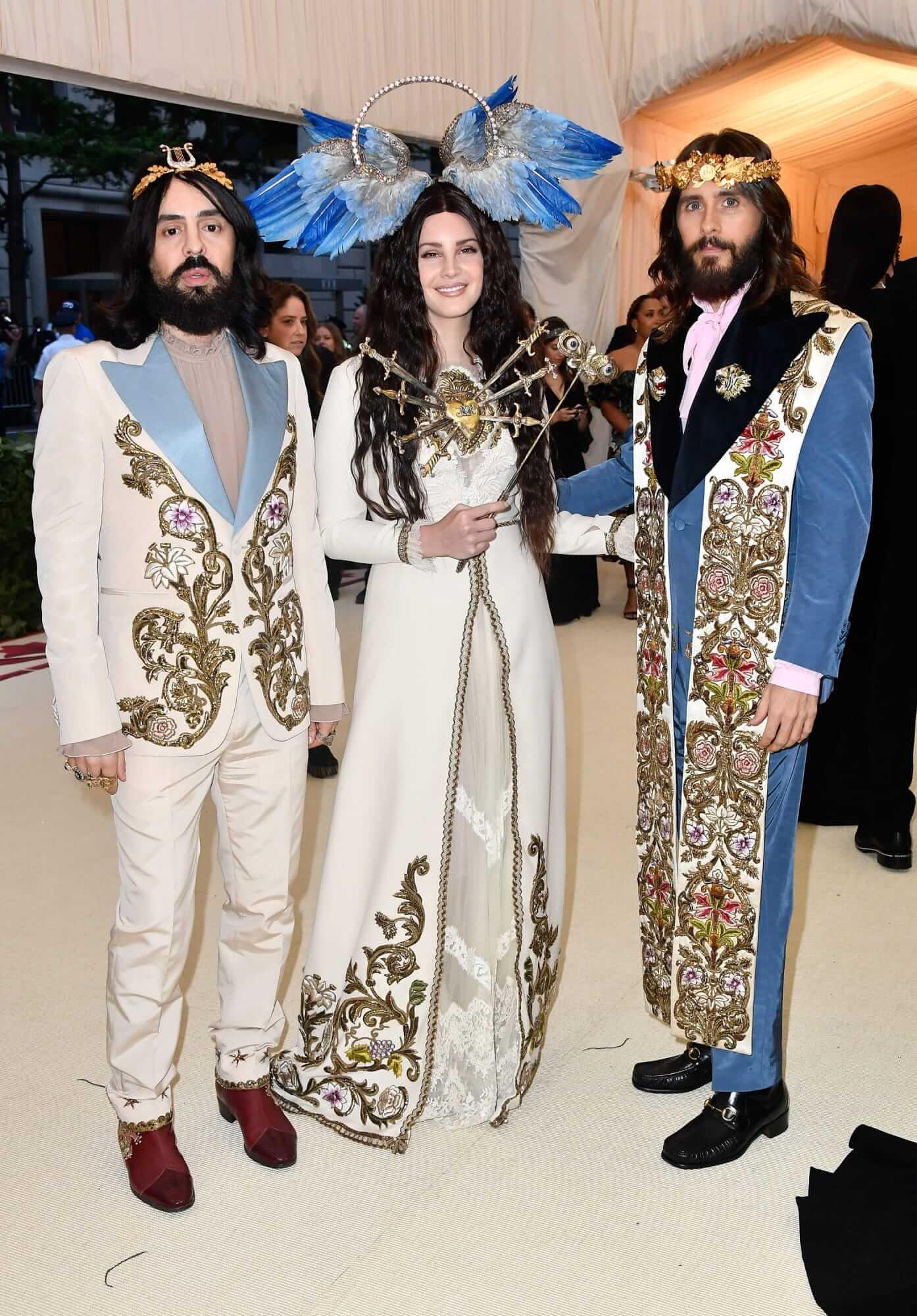 Alessandro Michele, Lana Del Rey y Jared Leto. Fotografía: Getty