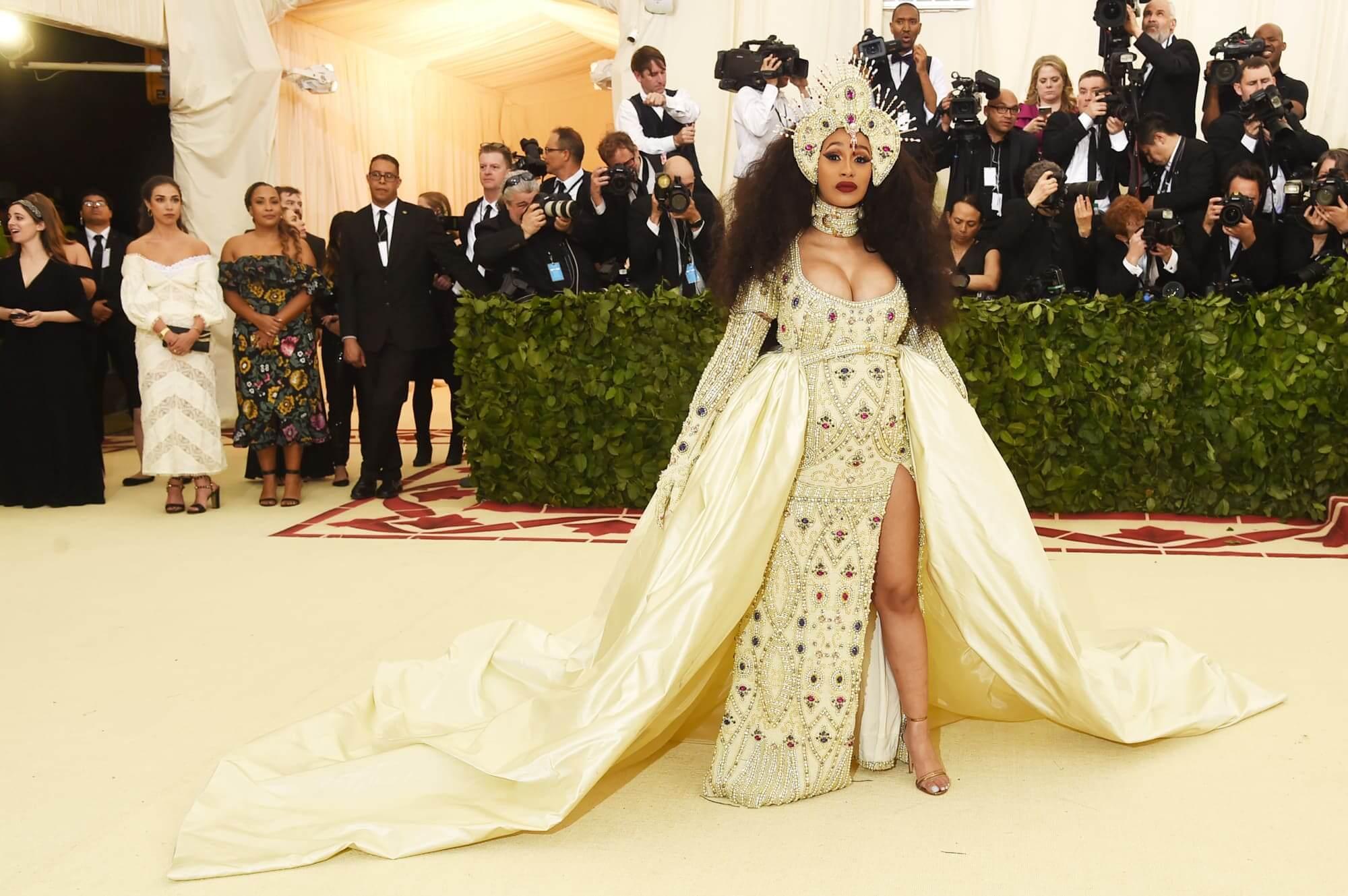 Cardi B en la Met gala 2018. Fotografía: Getty