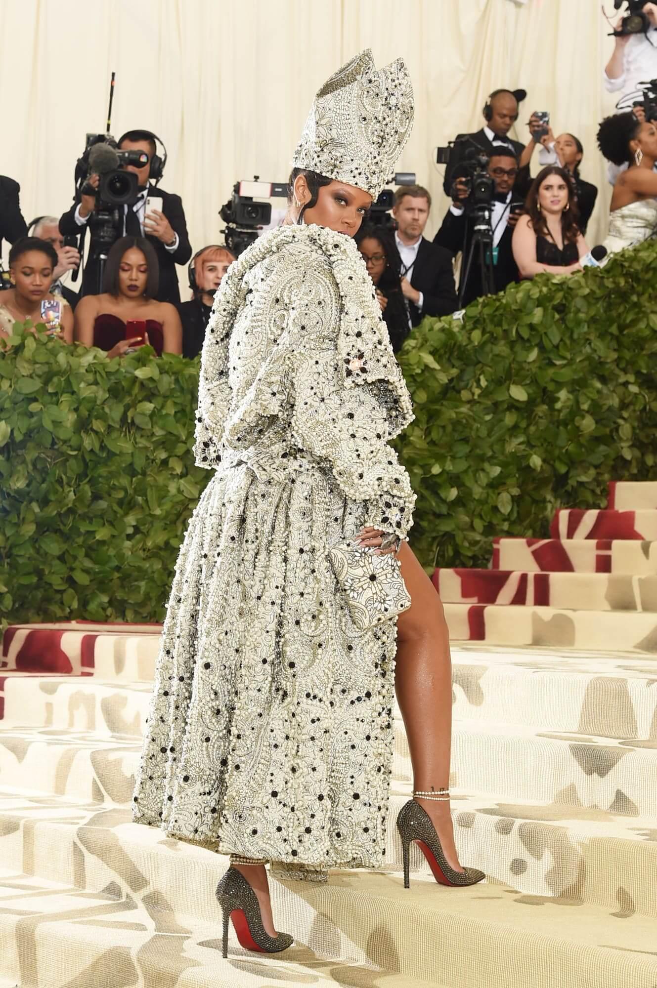 Rihanna en la Met Gala 2018. Fotografía: Getty