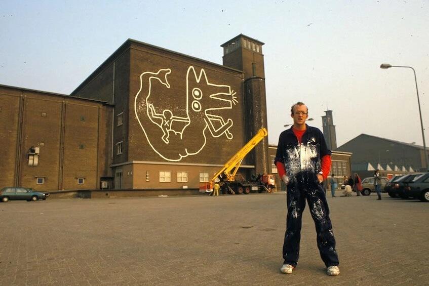 Así es el mural de Keith Haring descubierto en Amsterdam después de 30 años
