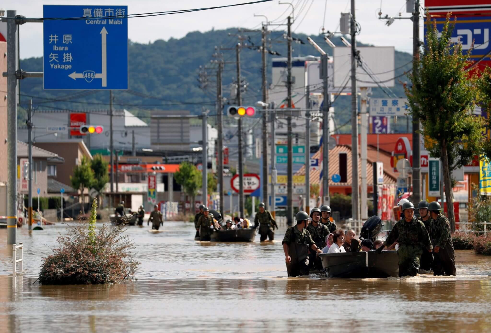 Las 15 fotografías más impactantes de las devastadoras inundaciones en Japón