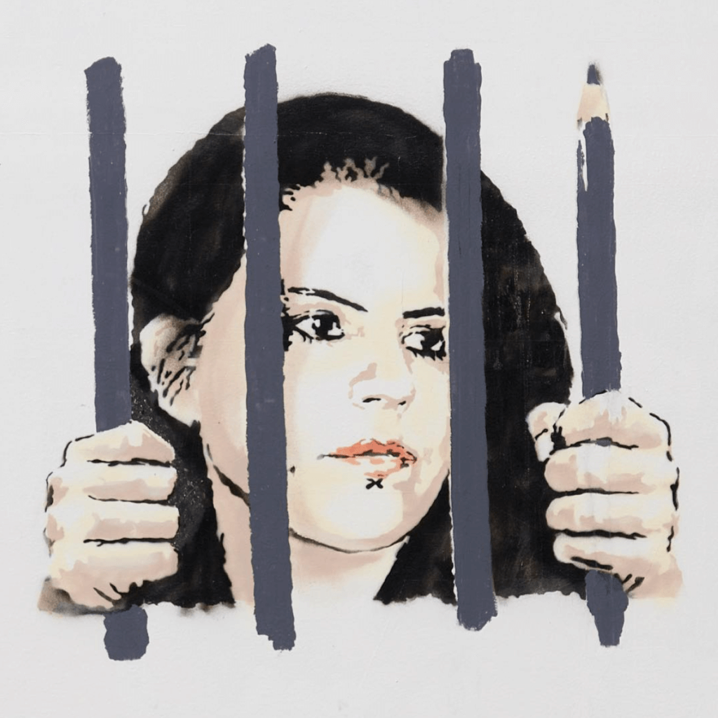 """""""Esta carta es ilegal"""": La artista Zehra Doğan le escribe a Banksy desde la cárcel"""