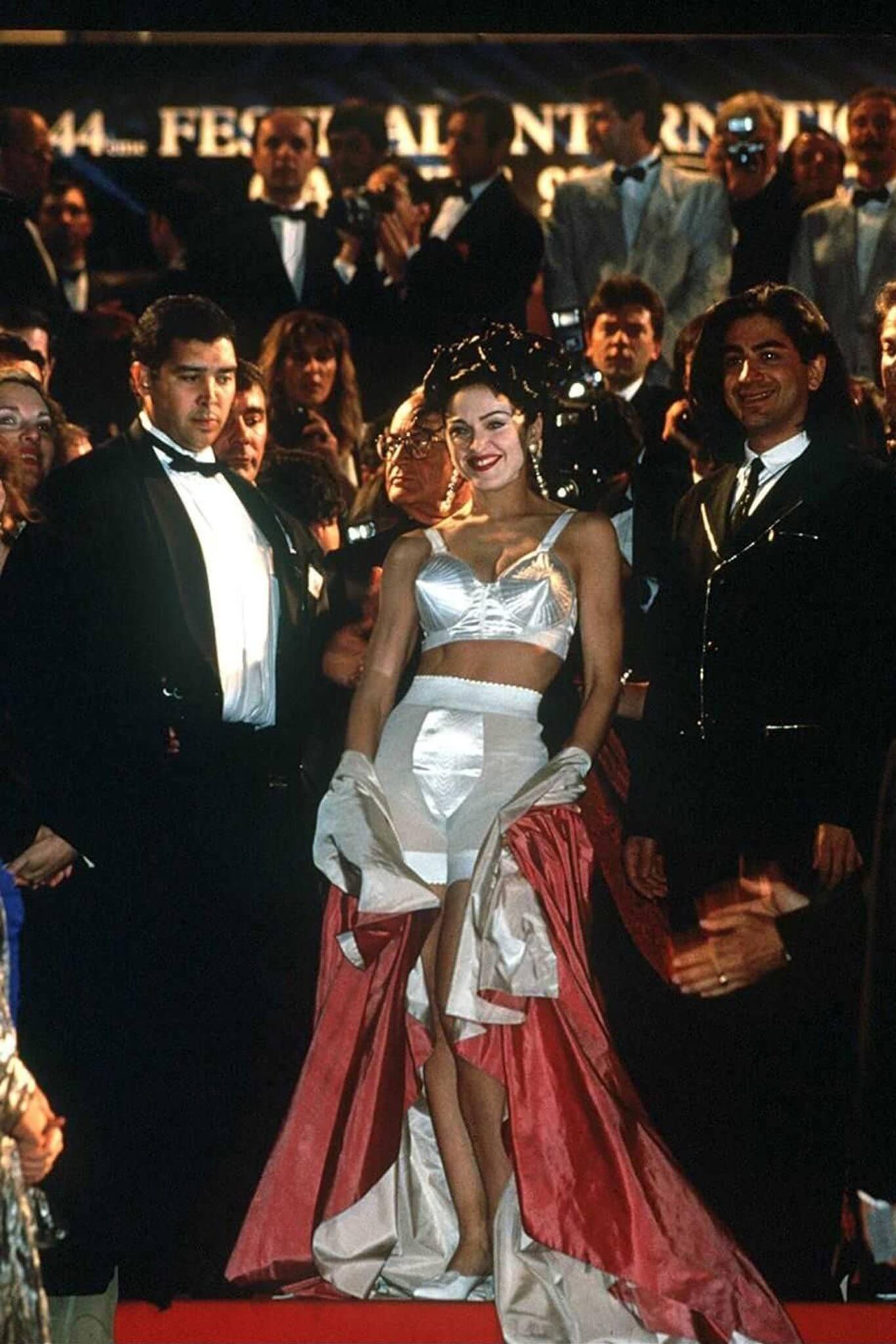 Madonna en el Festival de Cine de Cannes en 1991. Fotografía: REX