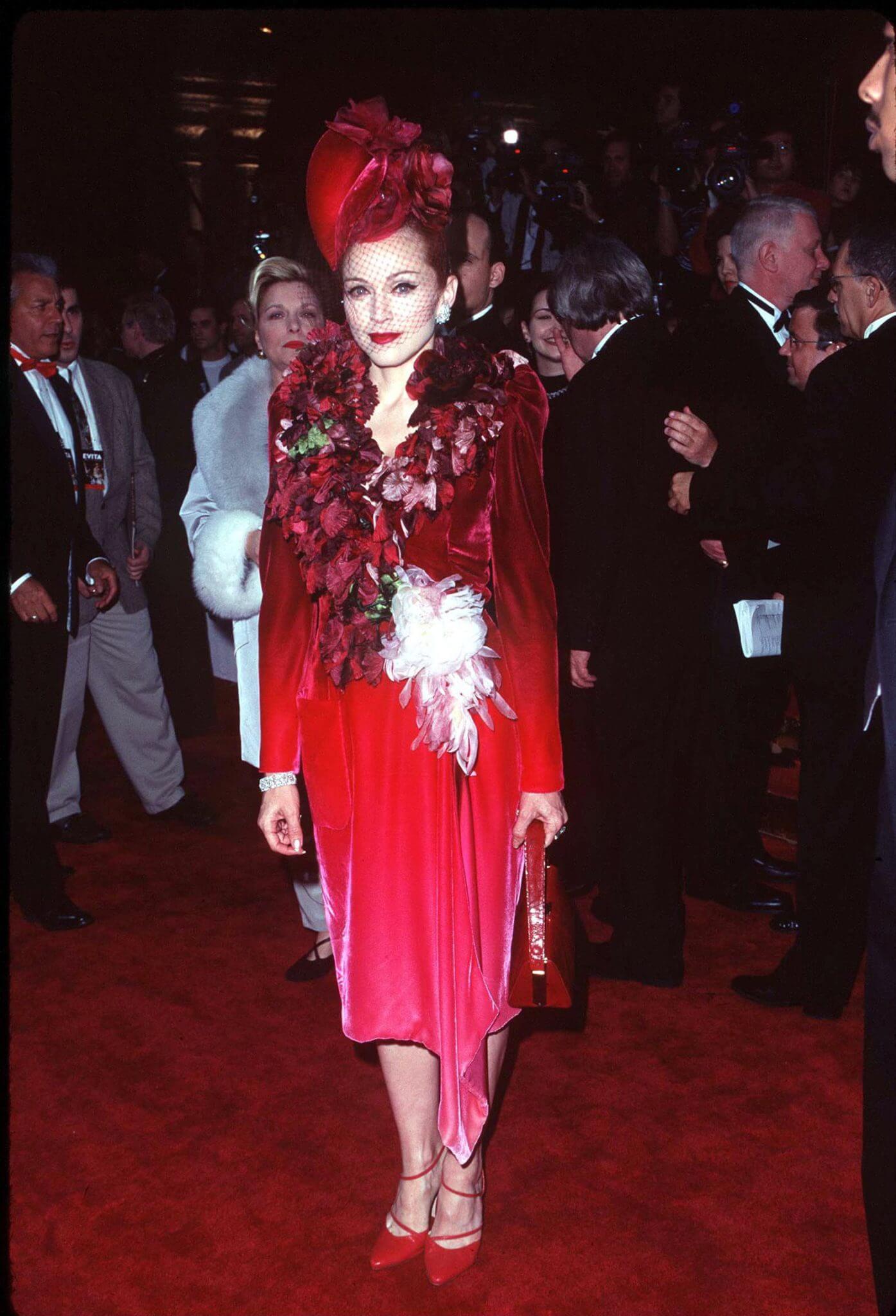 """Madonna en la premiere de """"Evita"""". Fotografía: Getty"""