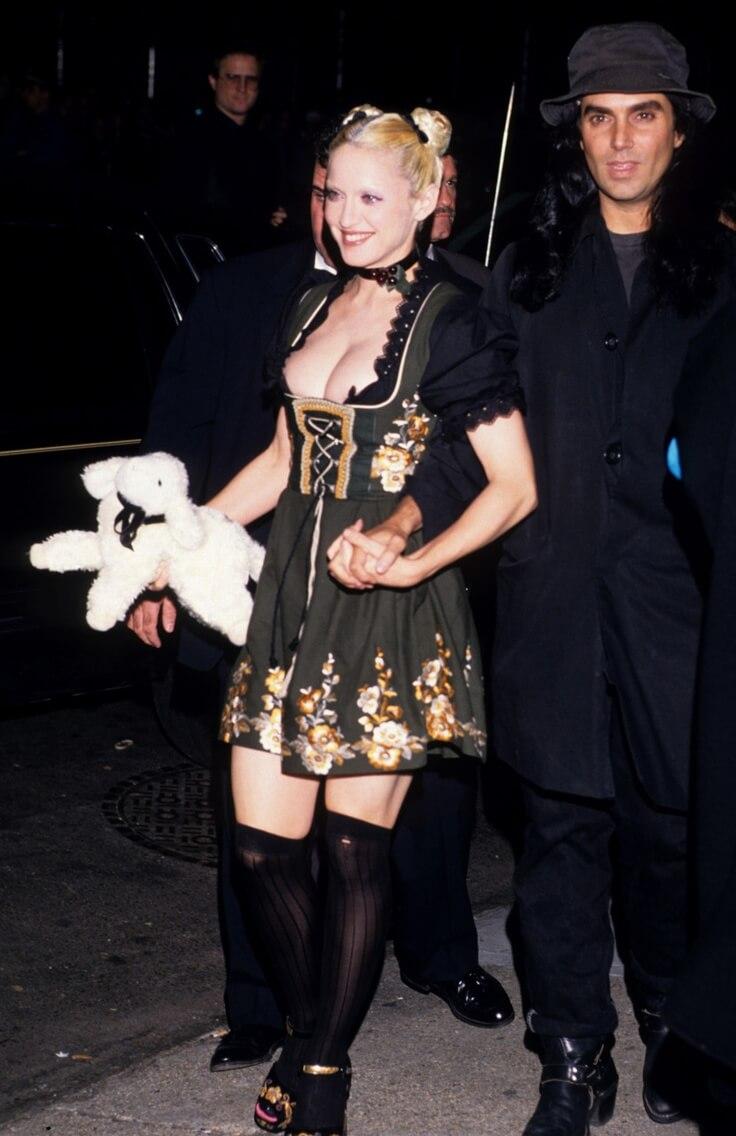 Madonna en la fiesta de estreno de su libro SEX. Fotografía: Getty
