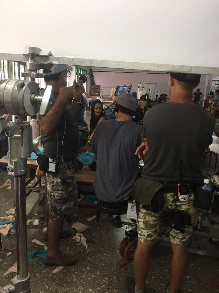 """Rihanna en el rodaje de """"Guava Island"""". Fotografía: Vistar"""