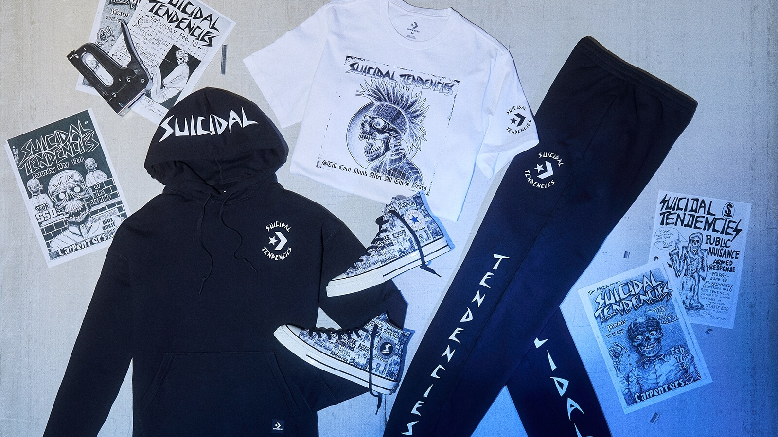 Suicidal Tendencies y Converse se unen en una colección que celebra el punk y la cultura skate