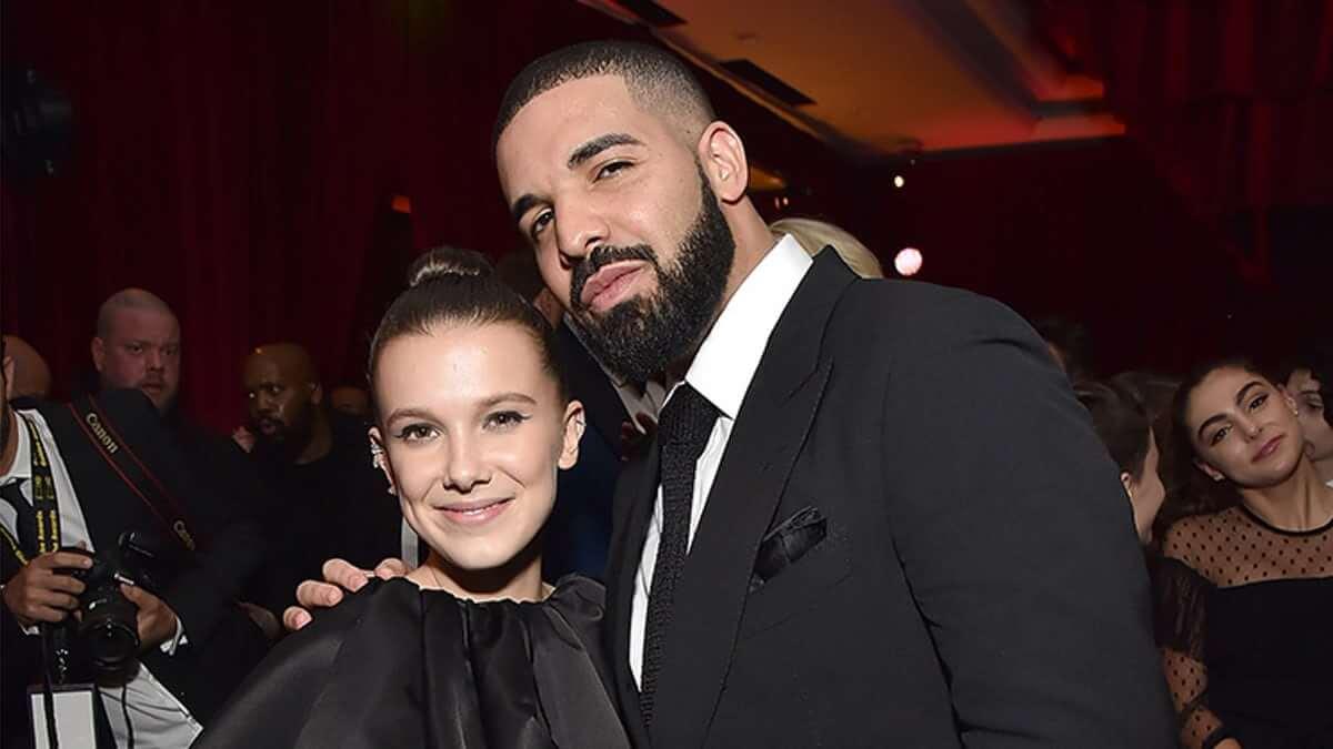 ¿Drake, qué haces enviándole mensajes de texto a Millie Bobby Brown?