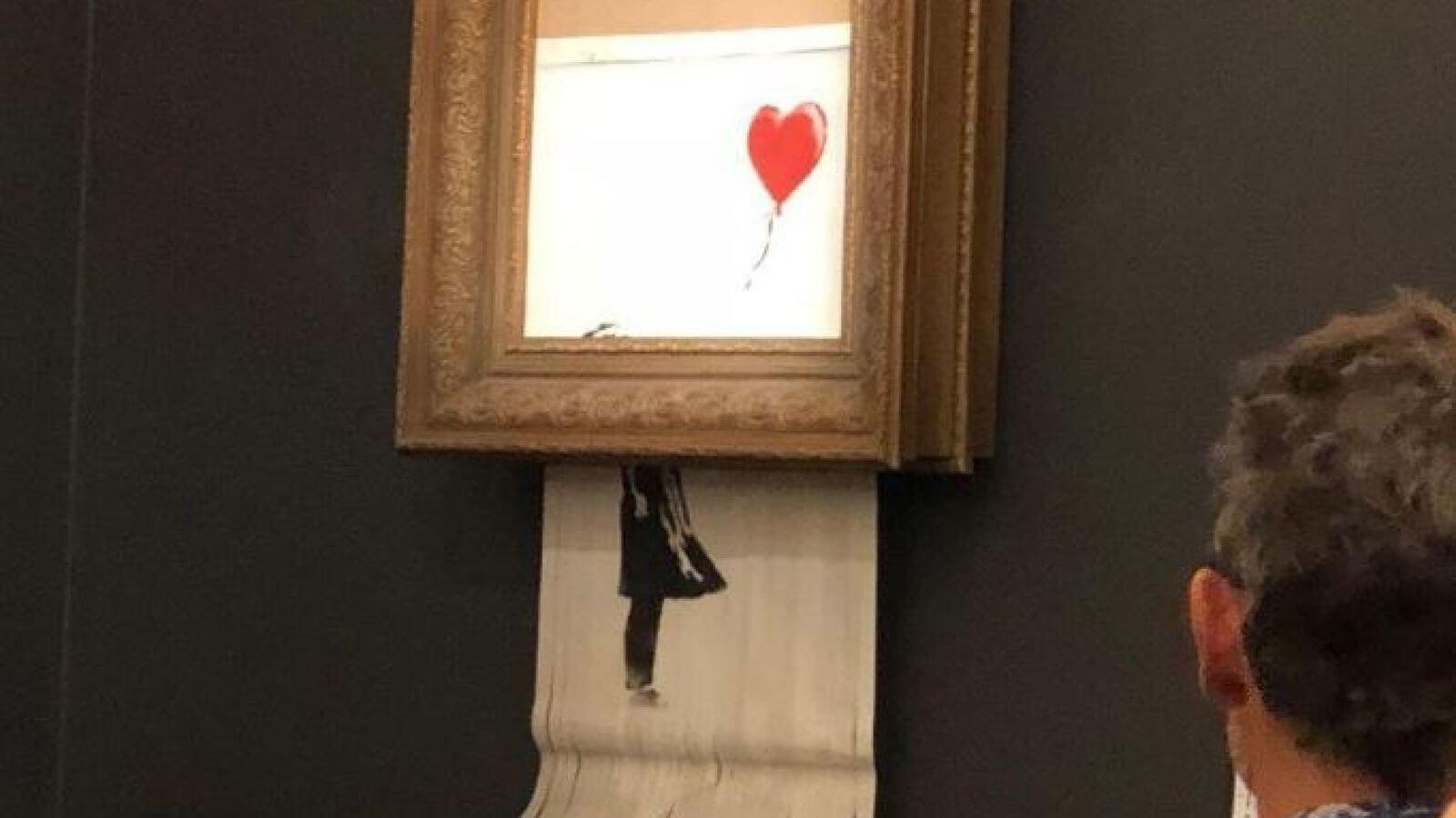 Banksy certifica y renombra su cuadro destruido, y la compradora se queda con él por 1.4 millones de dólares