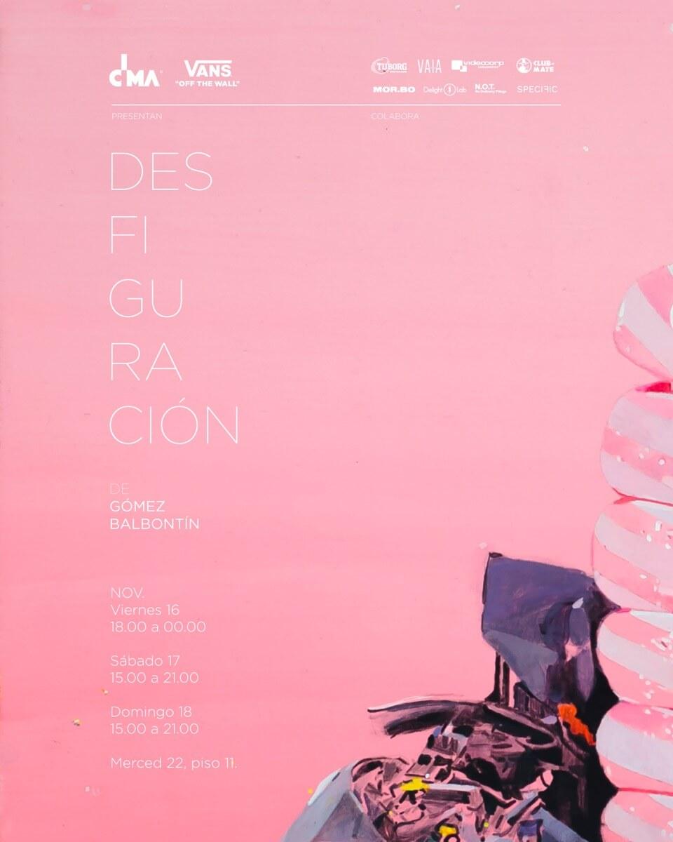 """Afiche de la muestra """"Desfiguración"""". Imagen: Galería CIMA"""