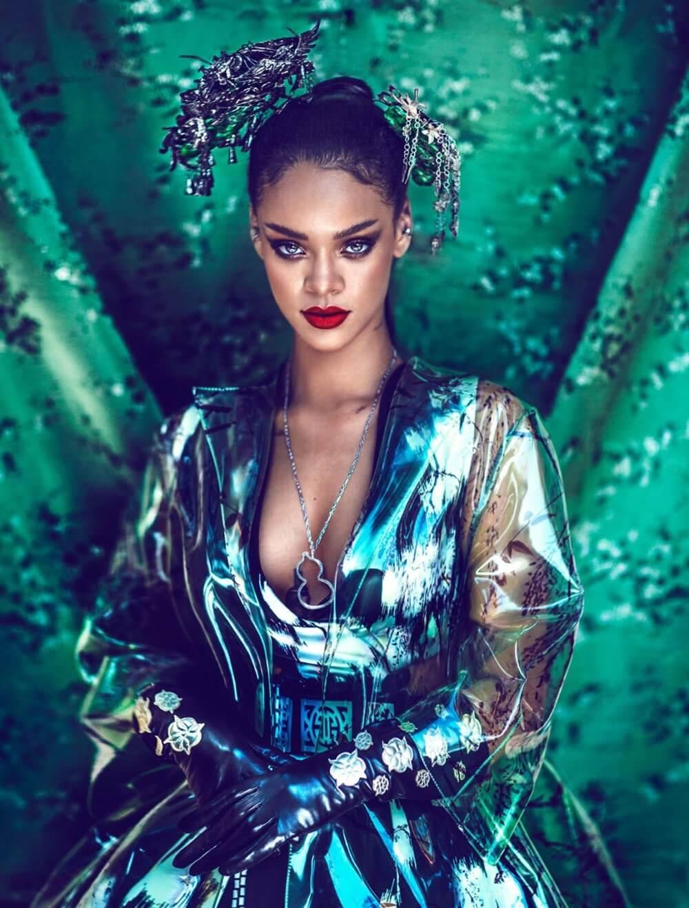 Rihanna. Imagen: Chen Man/Bazaar