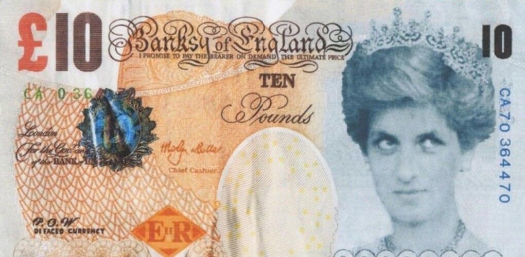 El Museo Británico adquiere oficialmente su primer Banksy: un billete falso con Lady Di