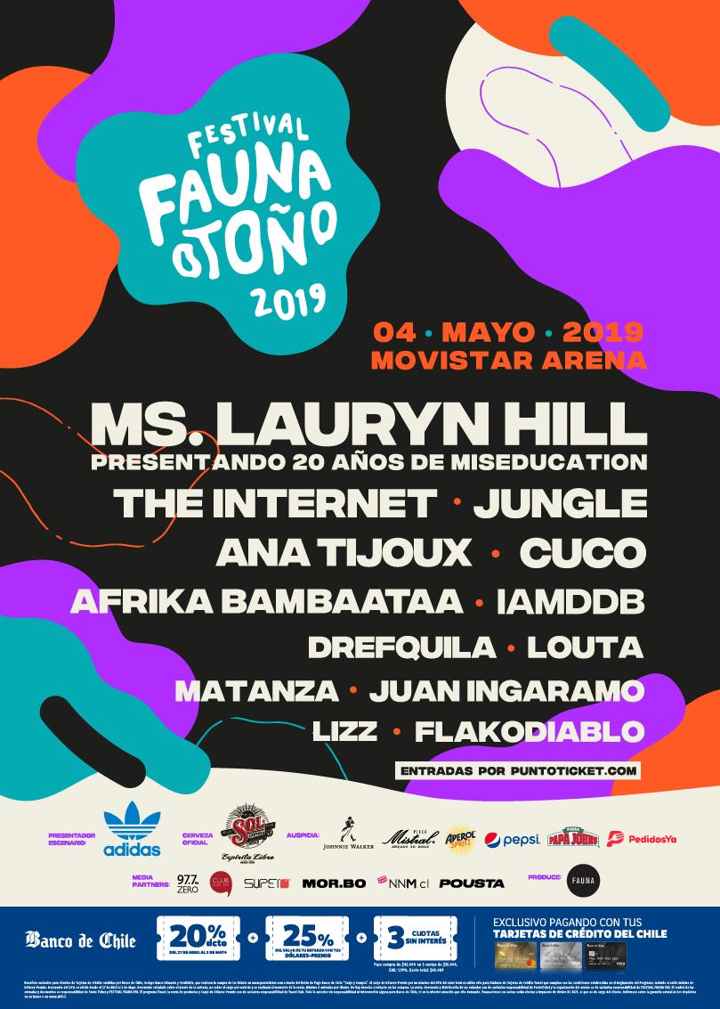 Afiche Final del Fauna Otoño 2019. Imagen: Fauna Producciones