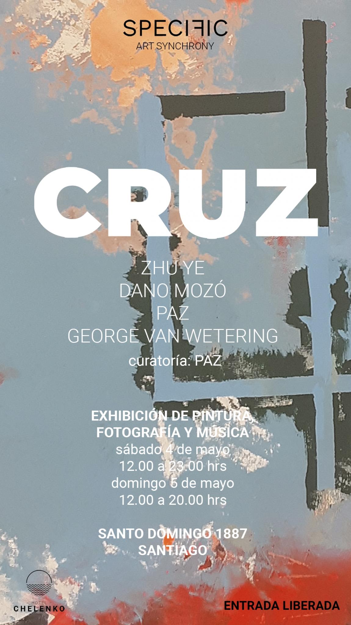 """Flyer oficial de la exposición """"CRUZ"""". Imagen: SPECIFIC Studio"""