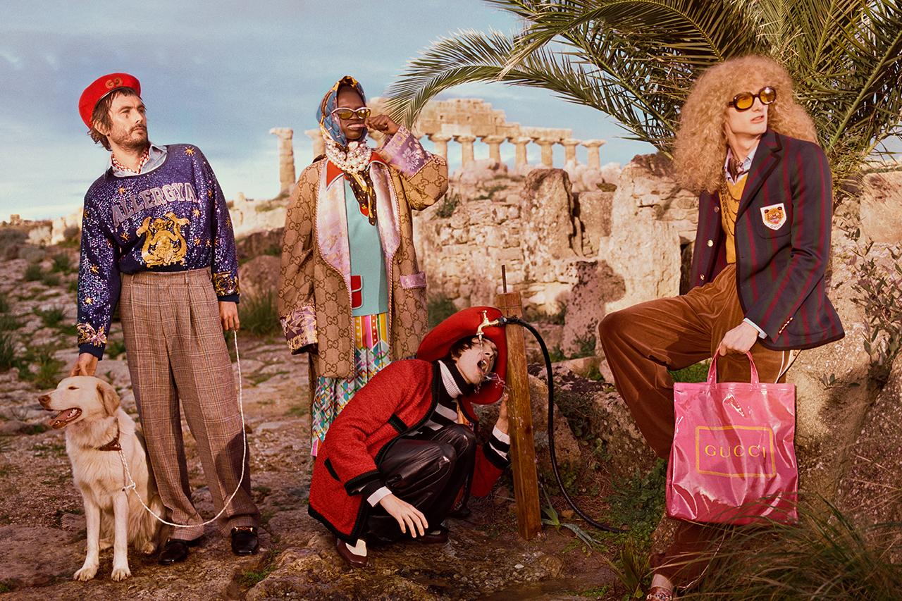 Gucci Pre-Fall 2019. Imagen: Glen Luchford/Gucci