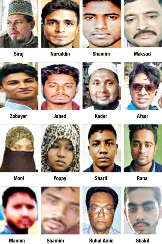 Fotos de los acusados del asesinato de la joven Nusjat Jahan Rafi. Imagen: Metro