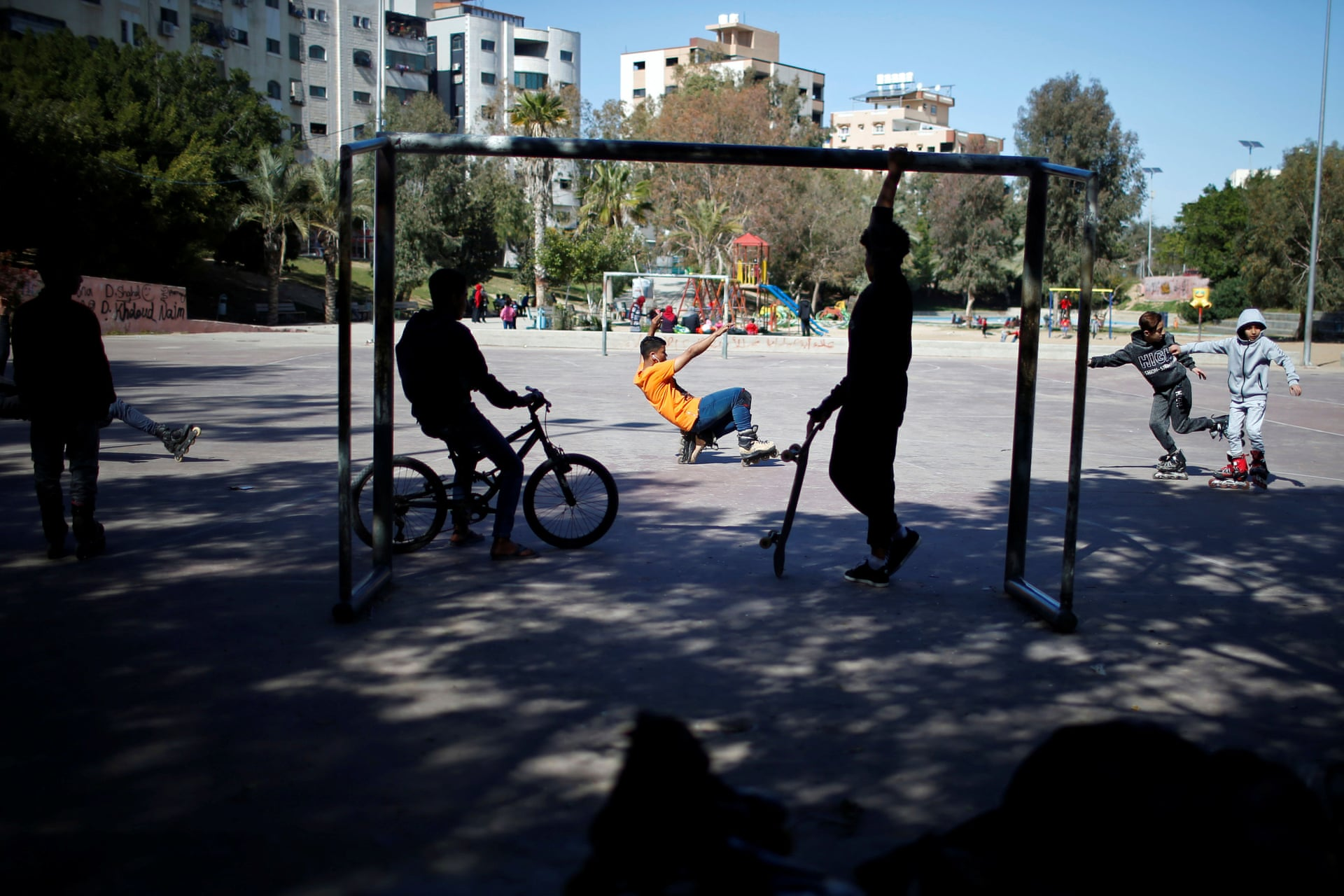 Gaza Youth Skate. Fotografía: Mohammed Salem/Reuters