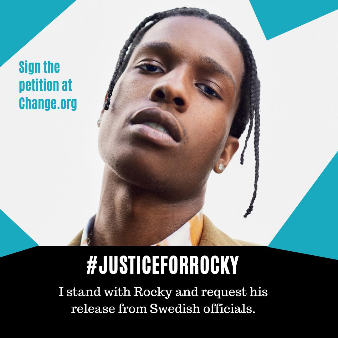 #JusticeForRocky, la petición con más de 500 mil firmas que pide la liberación de A$AP Rocky