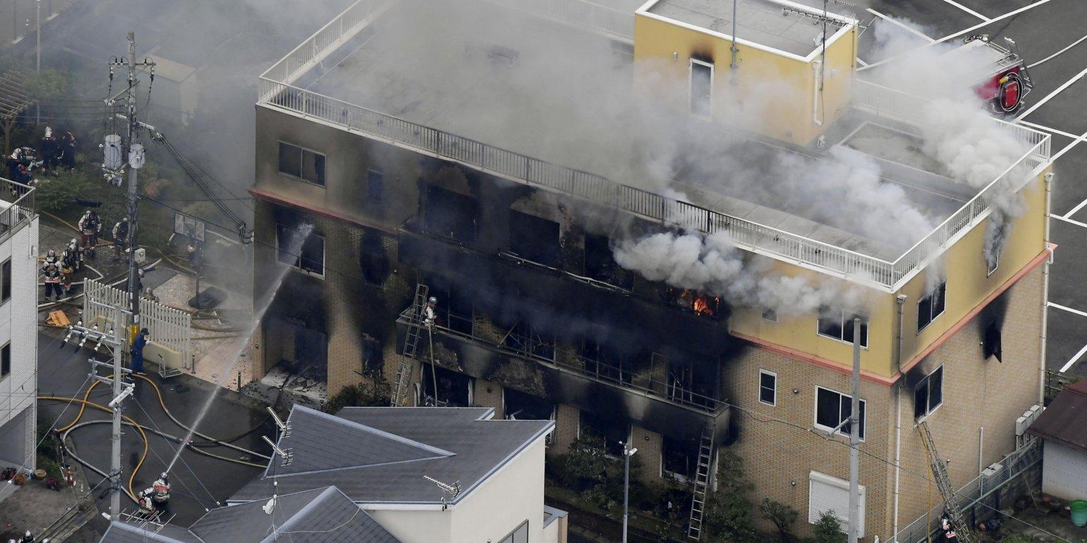 Ataque incendiario en el estudio japonés Kyoto Animation deja al menos 30 fallecidos