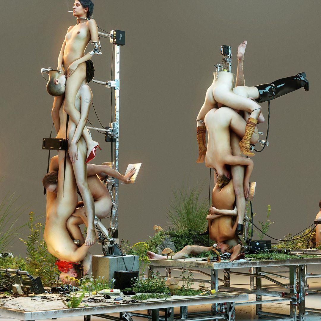 La colección SS/2020 de Glen Martens y Y/Project es una fantasía sexual robótica