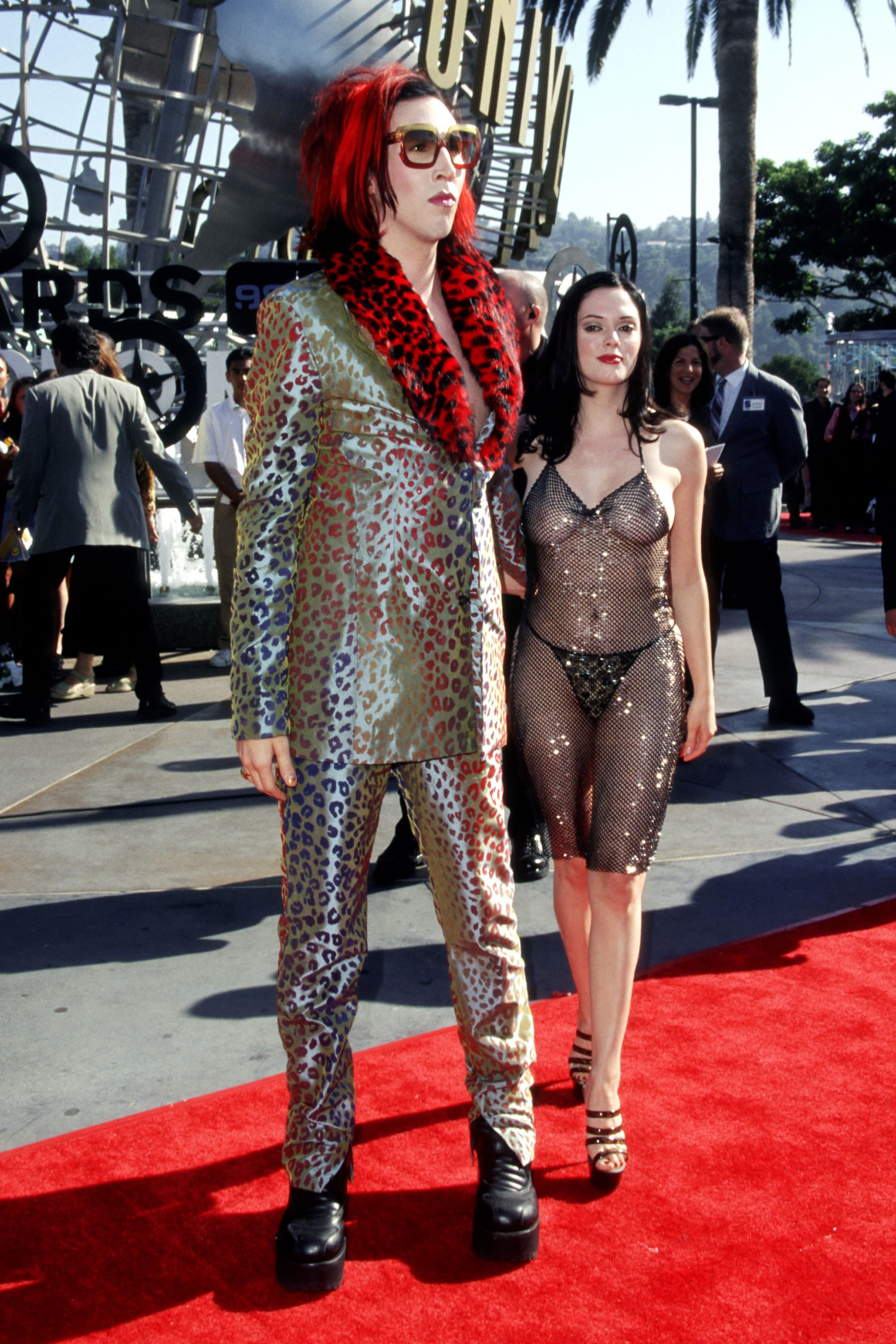 MArilyn Mandon y Rose McGowan. Fotografía: Getty