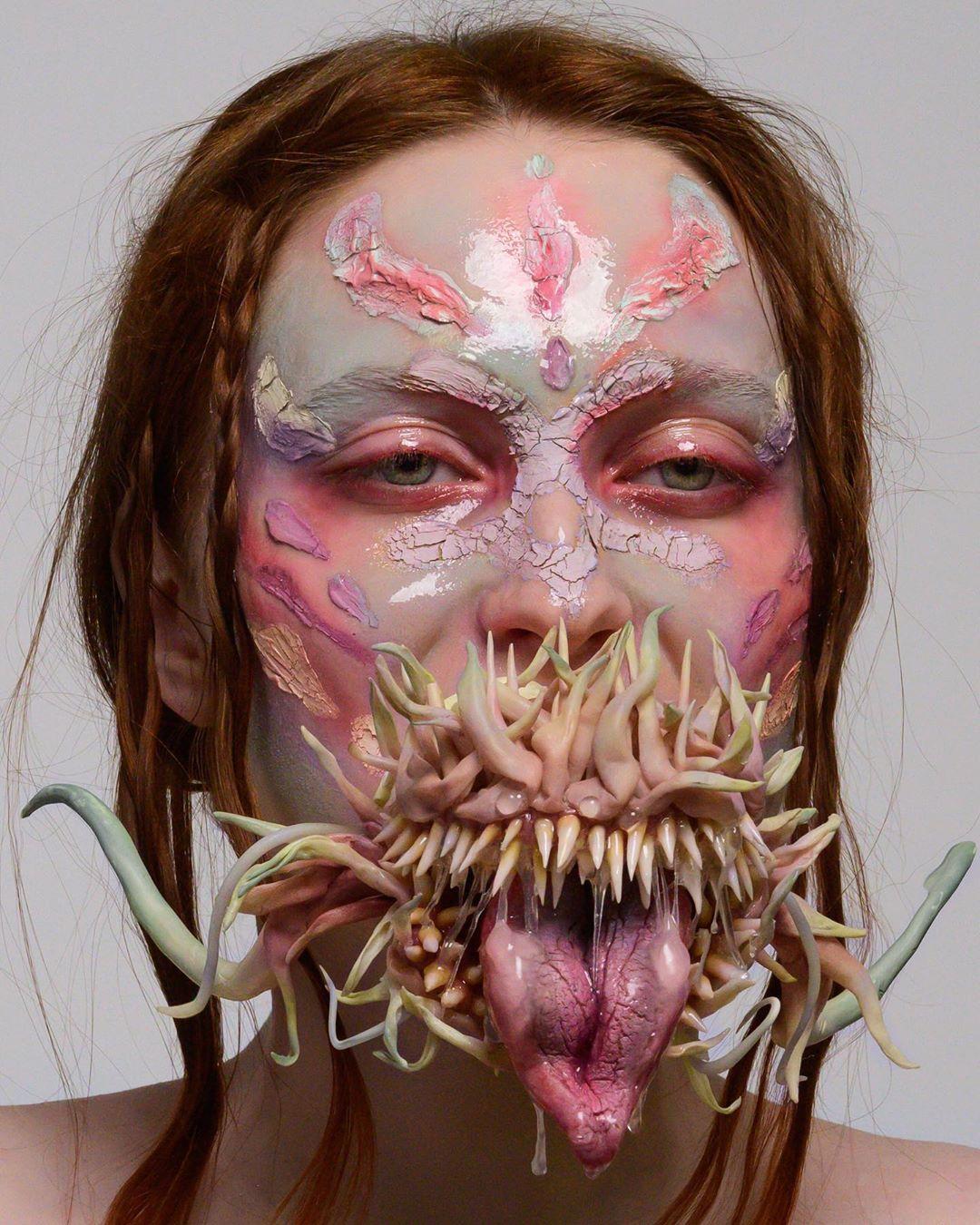 Conoce a Xenia Valevskaya, la makeup artist que crea arte surrealista distópico