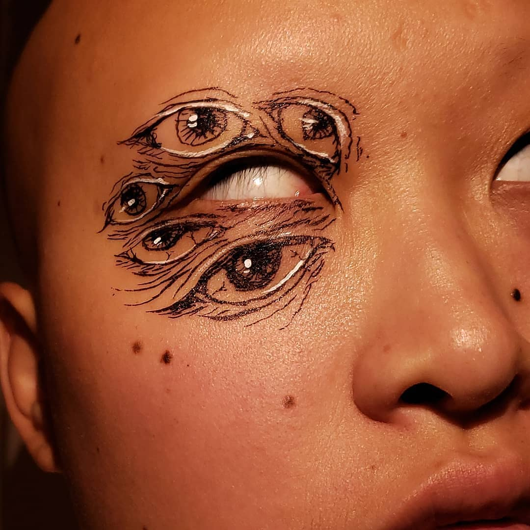 Conoce a Sunny, la makeup artist que crea ilusiones ópticas y arte moderno en su rostro