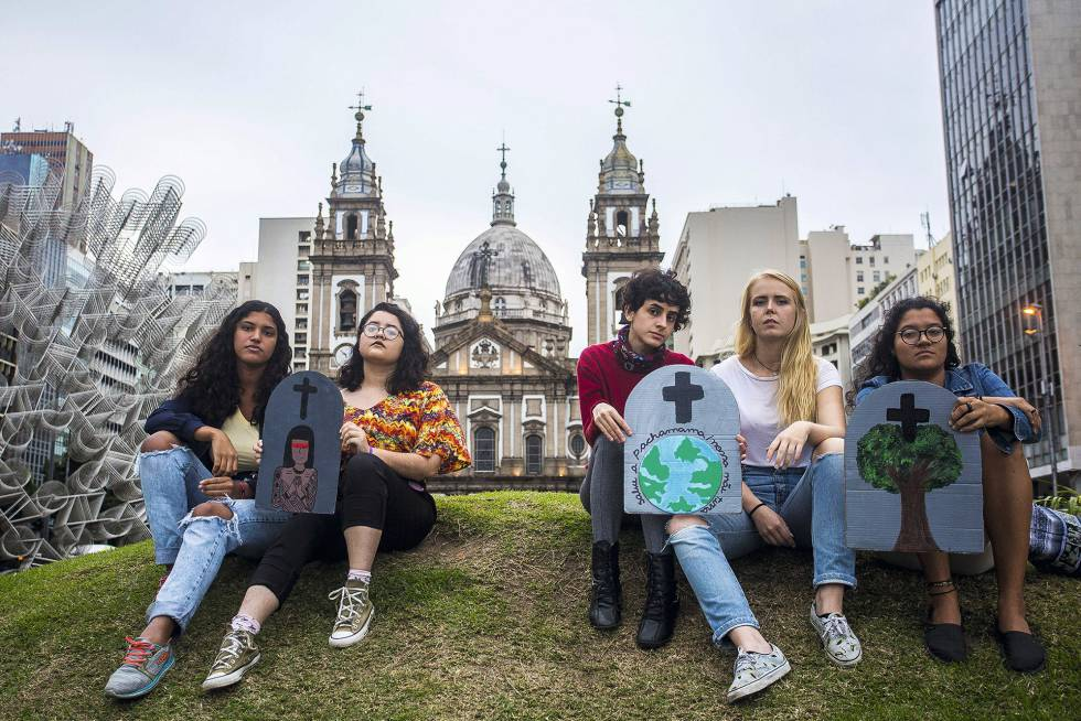 Los jóvenes activistas ambientales de Brasil. Fotografía: Daniel Ramalho