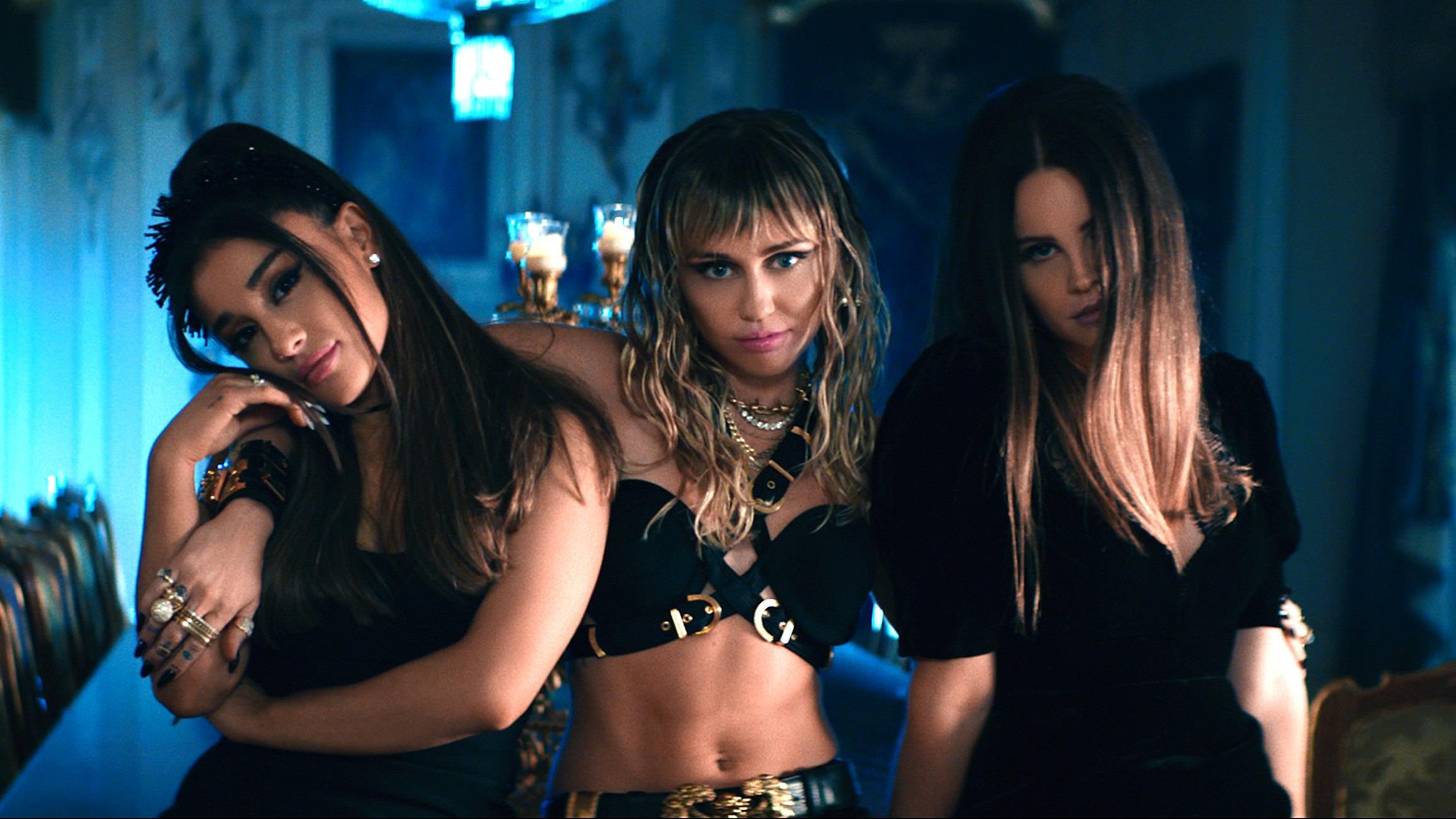 """Lana Del Rey, Ariana Grande y Miley Cyrus se convierten en ángeles en el nuevo video para """"Don't Call Me Angel"""""""