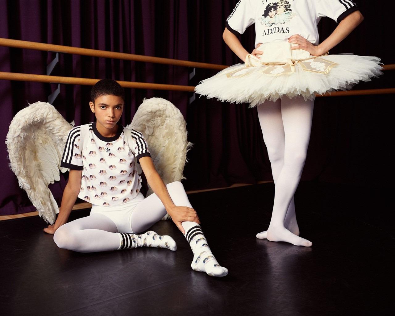 Fiorucci lanza una colaboración sportswear con adidas Originals centrada en sus icónicos querubines retro