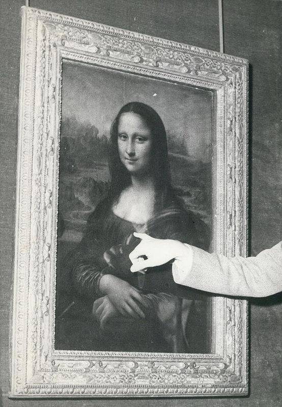 """Un curador del Museod e Louvre detalla el daño causado por una piedra a la """"Mona Lisa"""". Fotografía: Fine Art America"""