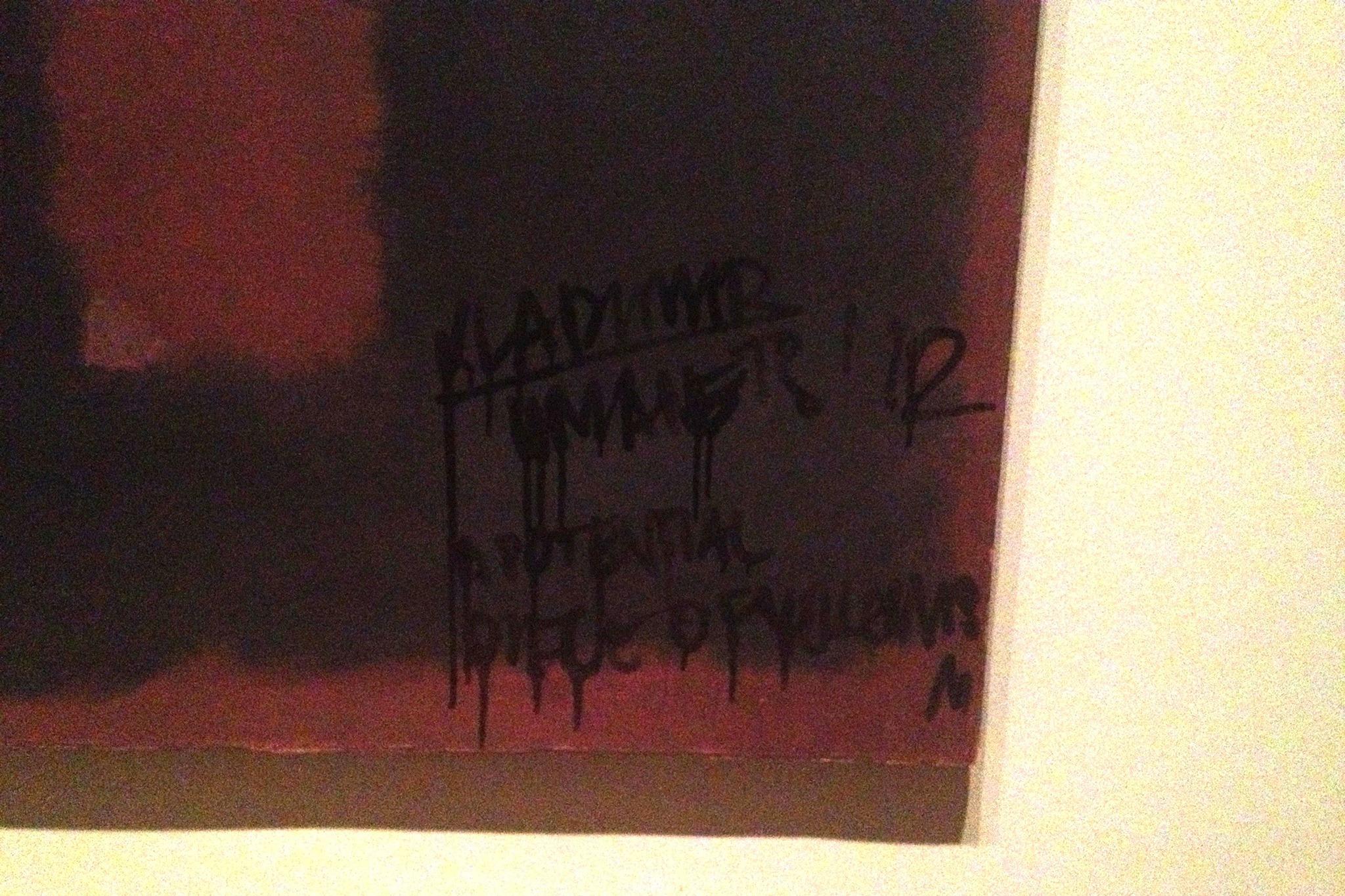 El vandalismo en el cuadro de Rothko. Fotografía: The Guardian