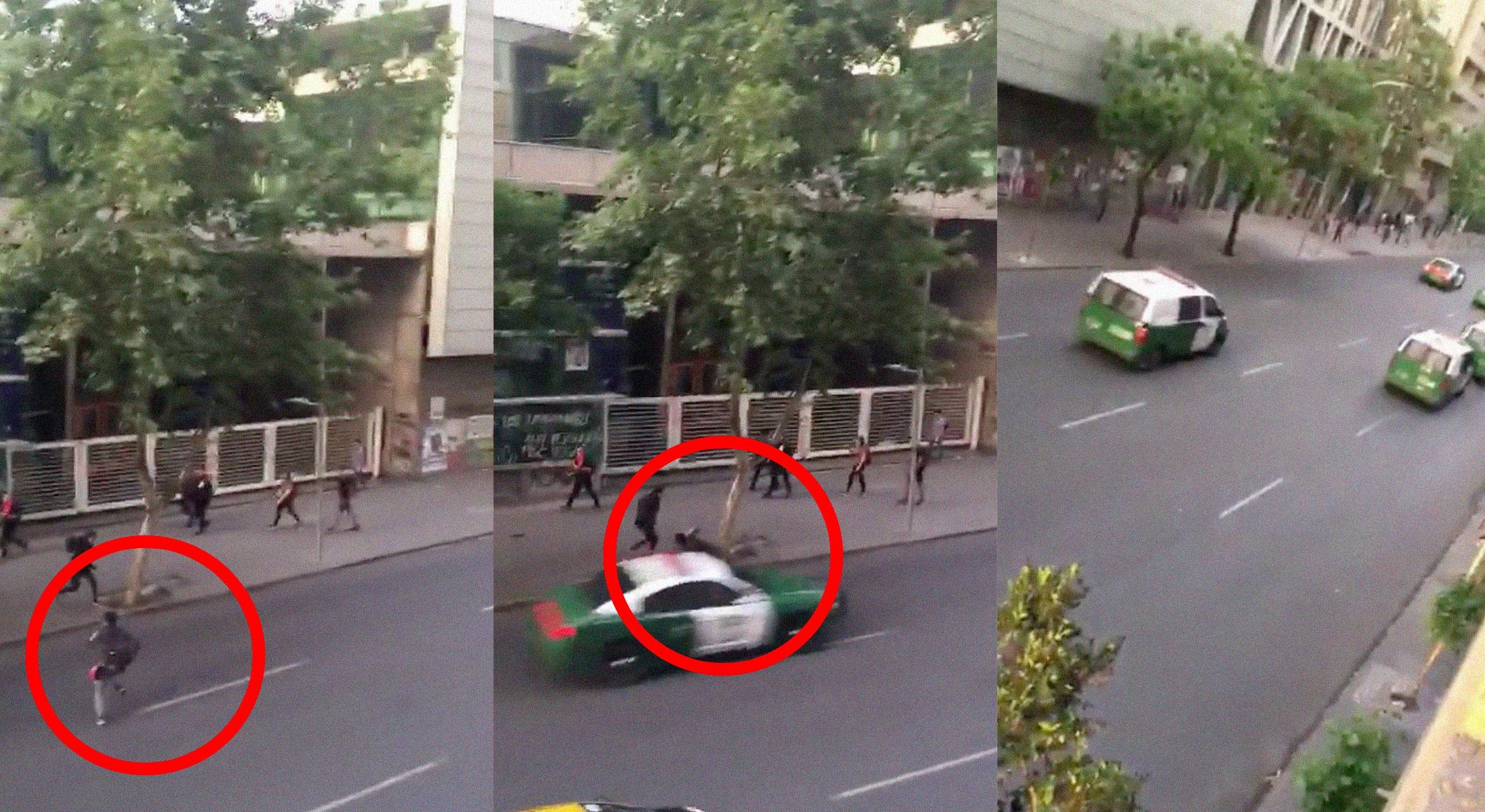 VIDEO: Registran el momento en el que una patrulla de Carabineros de Chile atropella brutalmente a un joven