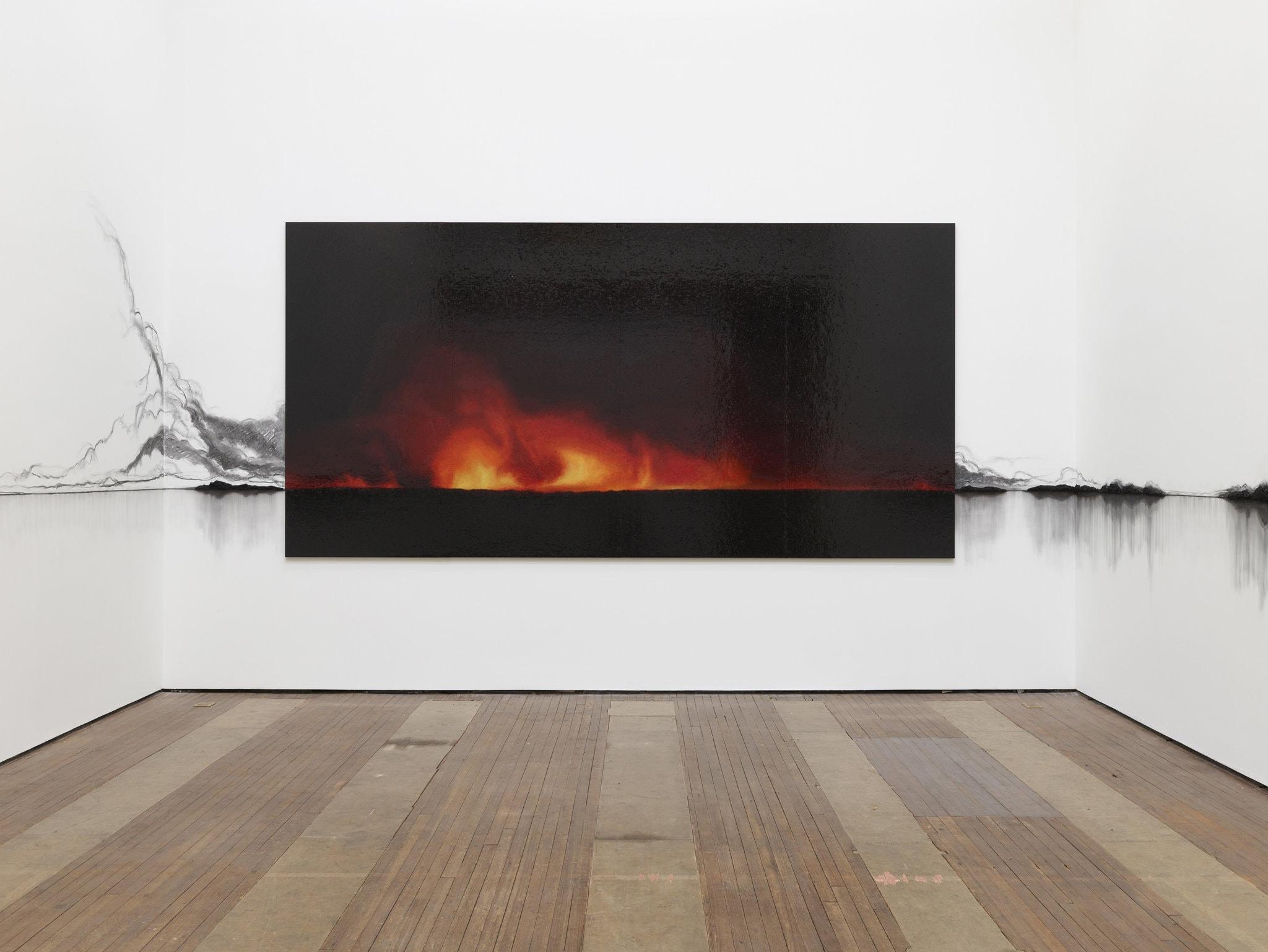 """""""Charred Landscape (America)"""". Teresita Fernández (2017). Imagen. Cortesía del artista y Lehmann Maupin, Nueva York, Hong Kong y Seúl."""