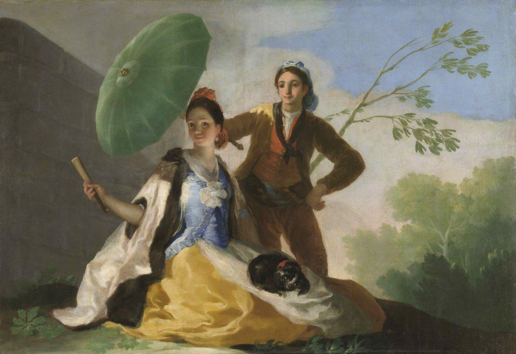 """Francisco de Goya """"El parasol (El quitasol)"""" (1777). Foto: Museo de Prado/Art Net"""