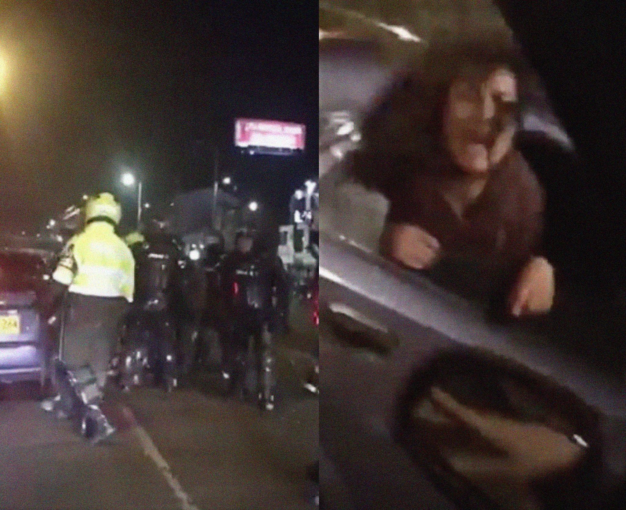 Colombia: Policía antidisturbios obliga a una mujer a entrar en un auto sin identificación y desata indignación