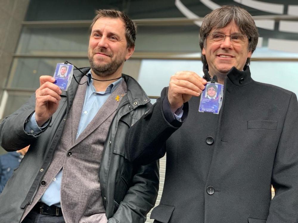 España: Puigdemont y Comín podrían perder la inmunidad parlamentaria y ser juzgados