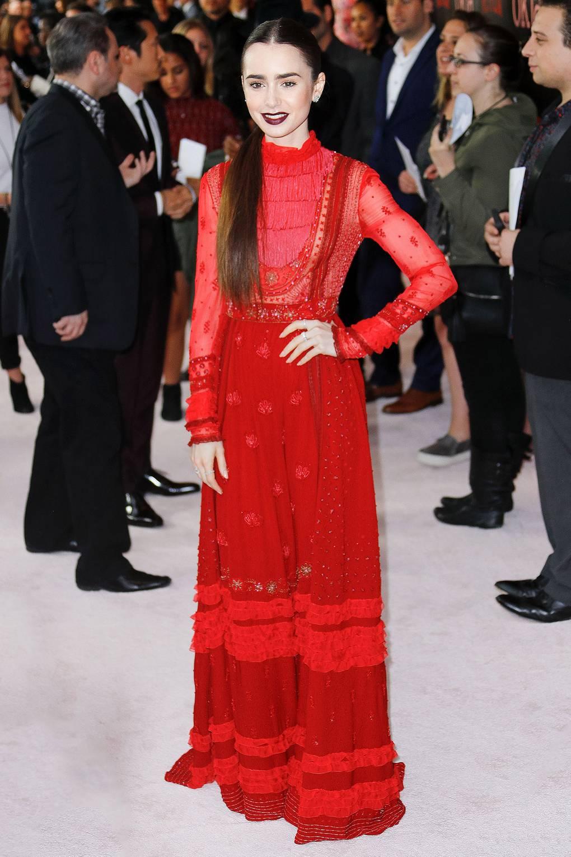 Lily Collins en la premiere de Okja. Fotografía: Getty Images