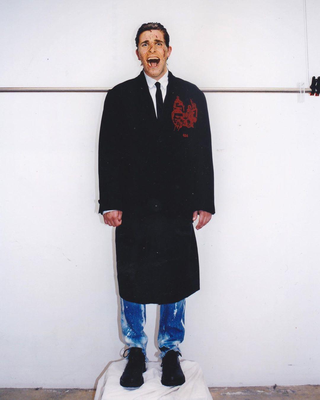 """""""American Psycho"""" es la inspiración de la nueva colección menswear de 424"""