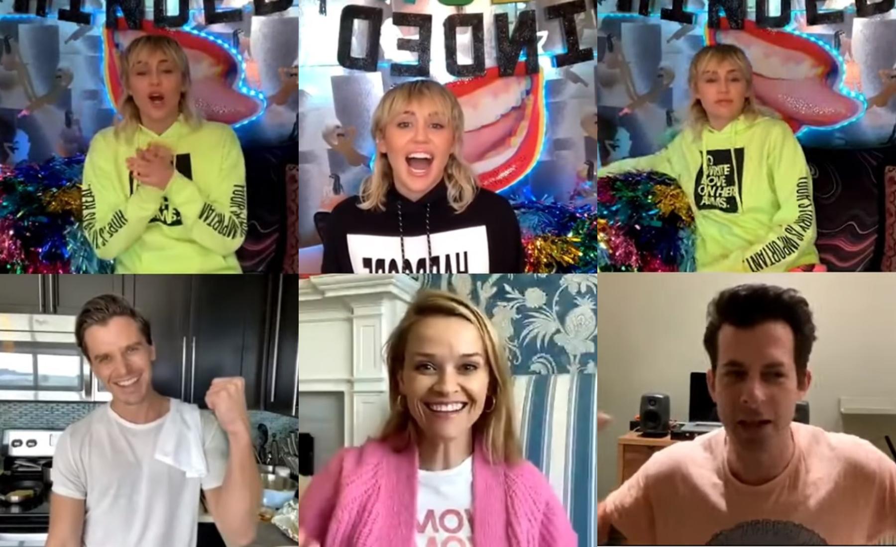 """Conoce """"Bright Minded"""", el talk show vía videollamada de Miley Cyrus durante esta cuarentena"""