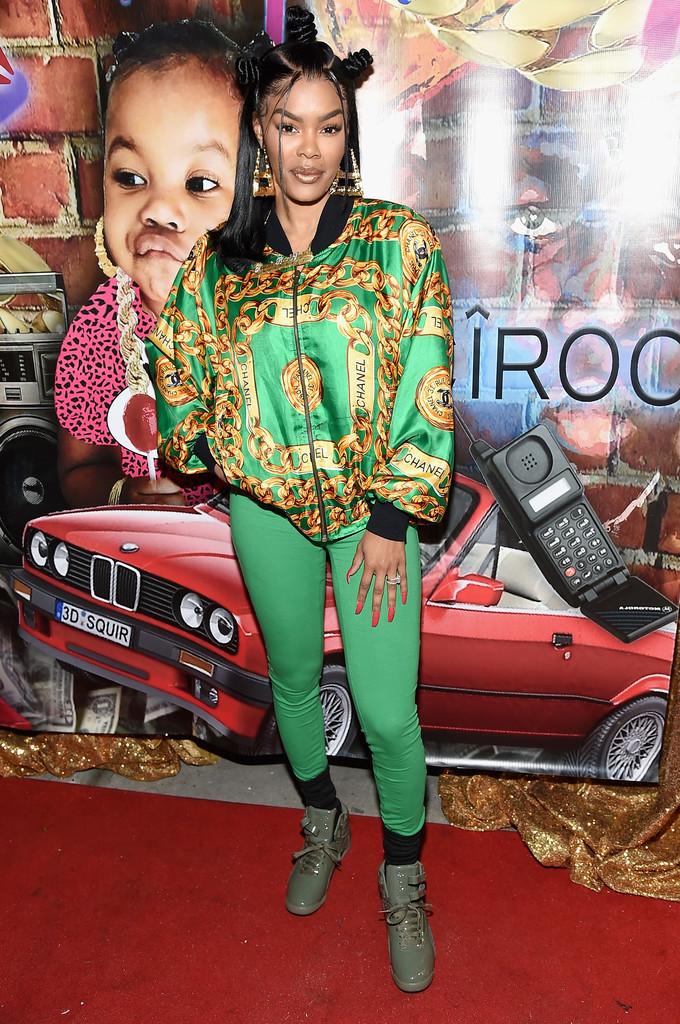 Teyana Taylor en la apertura de Junie Bee Nail Salon. Fotografía: Getty Images