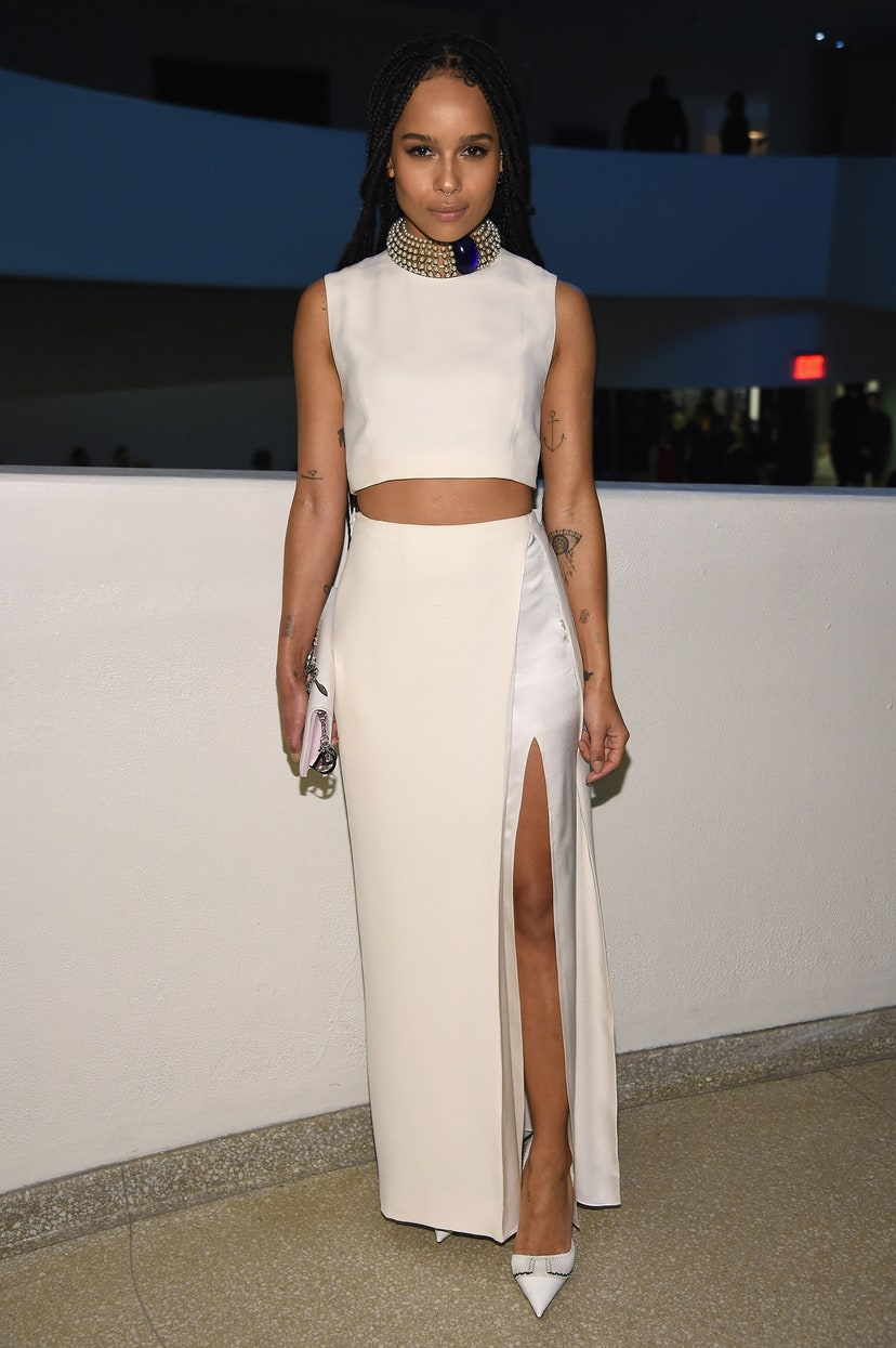 Zoë Kravitz at the Guggenheim International Gala Dinner in 2014. Photo: Getty Images