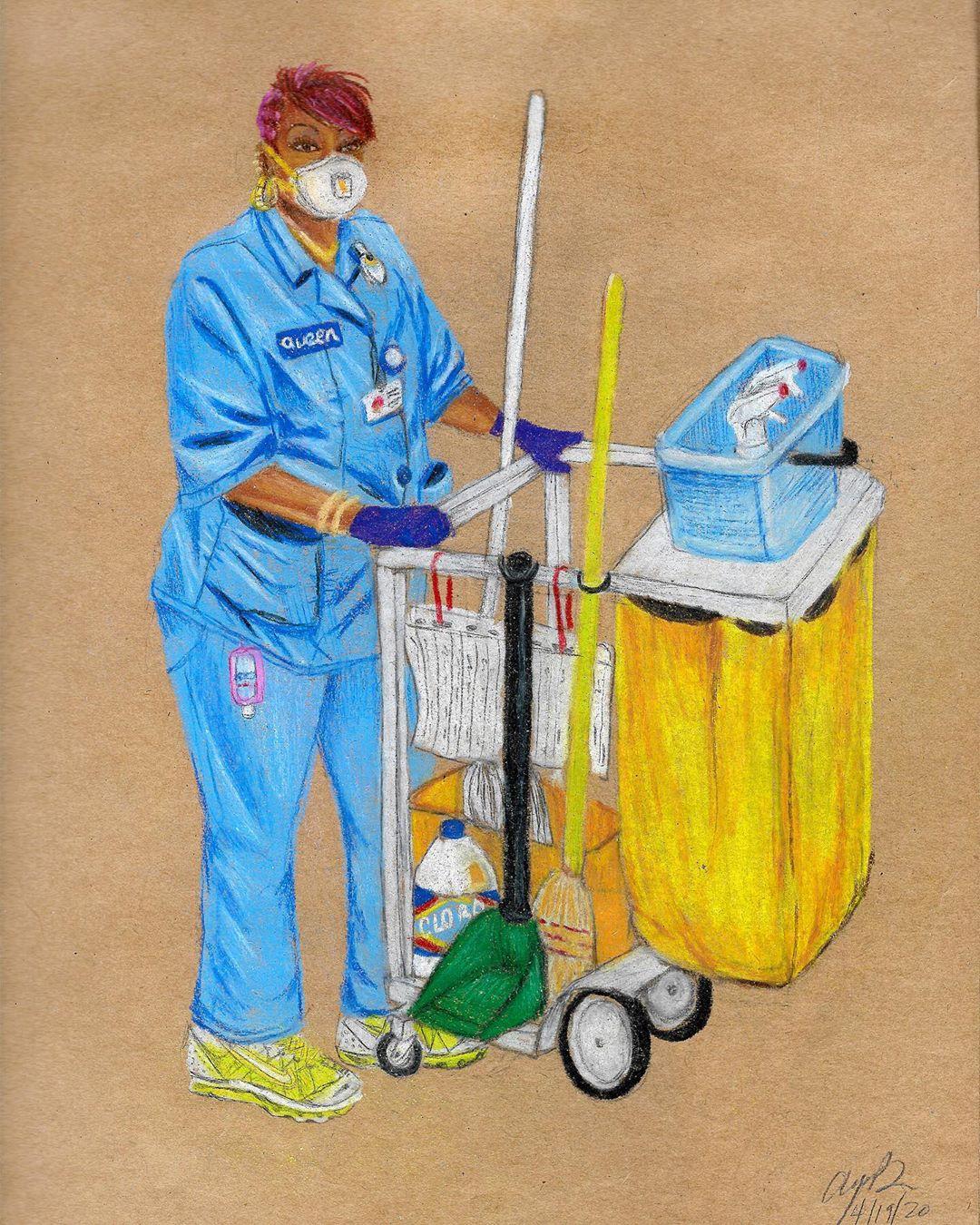 Conoce a Aya Brown, la artista que rinde homenaje a las trabajadoras esenciales de NYC durante la pandemia