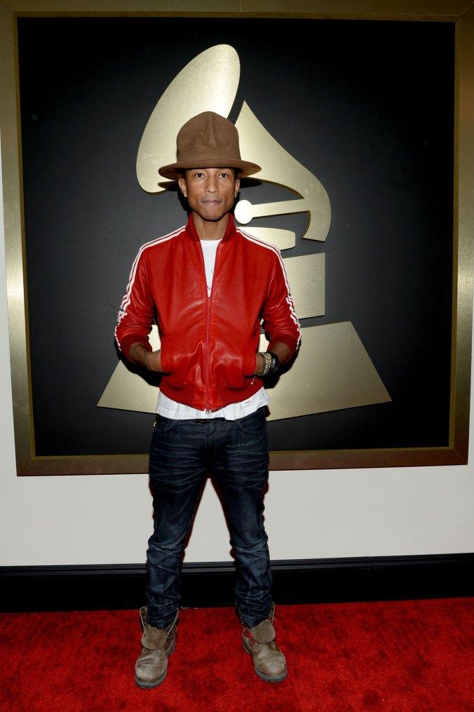 Pharrell Williams en los 2014 Grammy Awards. Fotografía: Getty Images